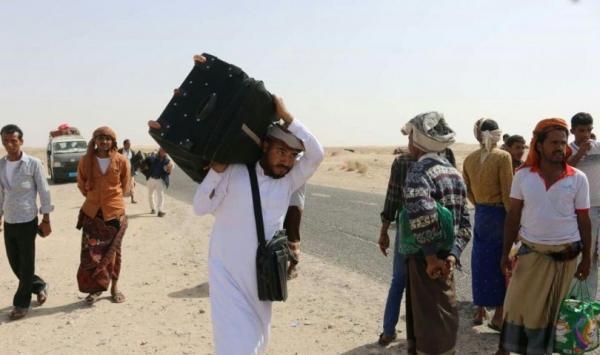 مصدر حكومي: رصد نزوح 25 الف أسرة من الجوف الى مأرب خلال يوم واحد فقط